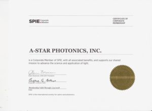 A-Star SPIE CORPORATE MEMBER